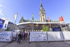 SEA DEV CON auf dem Hamburger Rathausmarkt in Hamburg am 24.09.2020. Foto: Christian Augustin